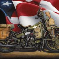 1941 WLA Harley Davidson Art Prints & Posters by Russell McKeand