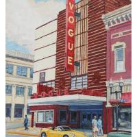 """""""Yellow car at the Vogue"""" by davidwesterfield"""