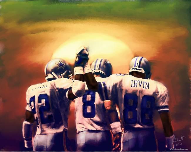 195e9a9177f Dallas Cowboys Emmitt Smith, Troy Aikman superbowl by Edward Vela