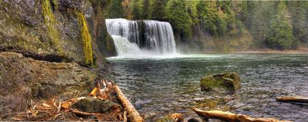 0163 Upper Falls Panoramic--Upper Lewis River