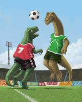 dinosaur football sport game