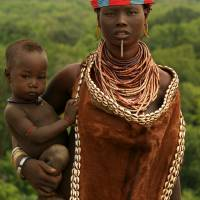 Ethiopian Tribal Mother & Child Art Prints & Posters by Fiona MacKay