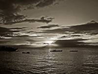 monochrome sunset no. 9