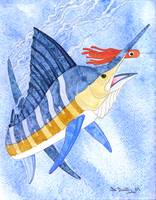 Marlin With Orange Lure