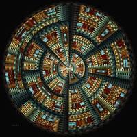 """Native American Basket ~ Abstract"" by inkandbrushcreations"