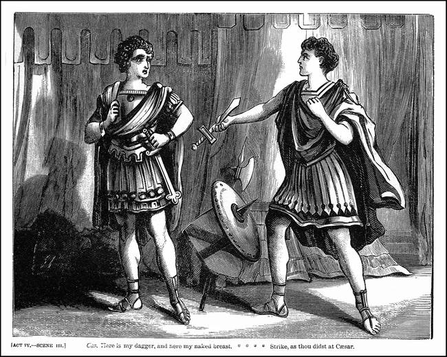 the leadership qualities of brutus and cassius in julius caesar a play by william shakespeare