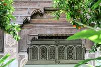Wood and stone fretwork