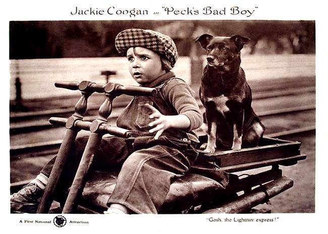 "Jackie Coogan in ""Peck's Bad Boy"", 1921"