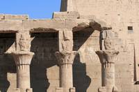 Columns at Edfu Temple