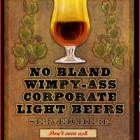 no wimpy beers served here by r christopher vest