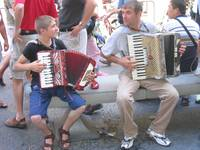 Father and Son Accordion Duo. Venice, Italy