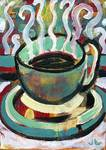 Steamy Cup of Coffee by Jennifer Lommers