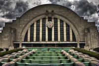 Union Terminal and Spring Storm Sky