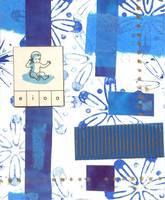 blue baby abstract collage