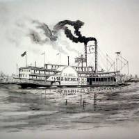 Riverboat BELLE OF MEMPHIS Art Prints & Posters by Richard Hall