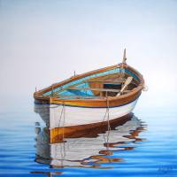 """Solitary Boat on the Sea"" by Horacio-Cardozo"