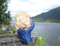 Sindy looks out at the loch