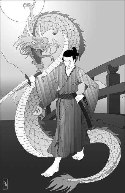Kagematsu versus the dragon