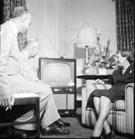 Dwight and Mamie Eisenhower Watching a Television