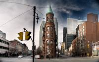 Flatiron building in Toronto