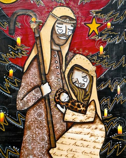 NATIVITY SCENE RED