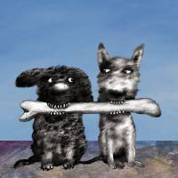 """Sharing Dogs"" by richardstine"