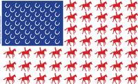 USA Flag Horse & Rider Design