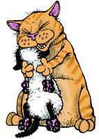 Chubby Huggs Bucky - Get Fuzzy by Art by Comics.com