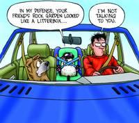 Bucky's New Litterbox - Get Fuzzy by Art by Comics.com