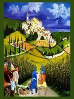 TUSCAN VILLAGE  Art Print
