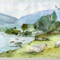 """""""Sheep in the Field"""" by Art-That-Inspires"""