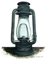 Hurricane Lantern : Antique oil lantern : 02