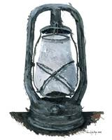 Hurricane Lantern : Antique oil lantern :  04