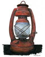 Hurricane Lantern : Antique oil lantern: 05