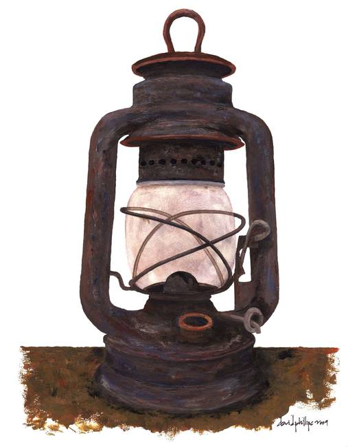 Hurricane Lantern : Antique oil lantern : 06