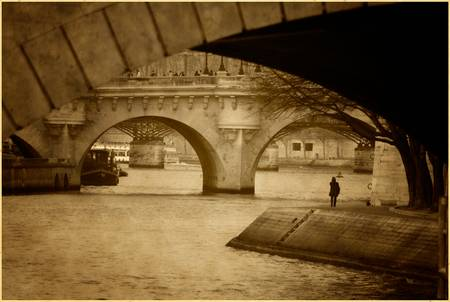 Paris Seine River Bridges
