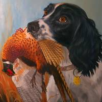 """""""Springer Spanial with Pheasant"""" by Dullinger"""