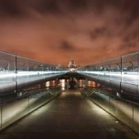 Millenium Bridge to St Pauls Art Prints & Posters by Harald Krefting