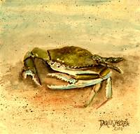 blue crab acrylic painting