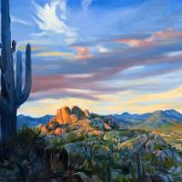 """View Of Scottsdale Arizona From Pinnacle Peak"" by KeatingArt"