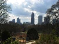 View of Atlanta from Botanical Gardens