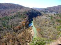 Buffalo River Overlook From Big Bluff
