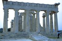 Temple of Aphaia, Aegina, Spring Evening 2003 8 by Priscilla Turner