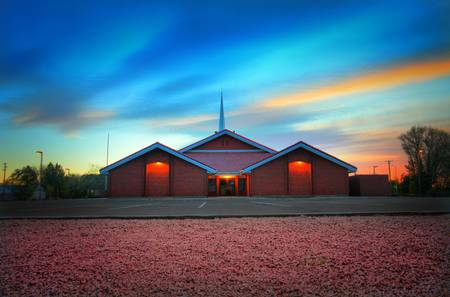 Pink Gravel at the Mormon Stake by Paul Hood