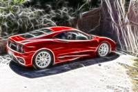 Ferrari with fractalius
