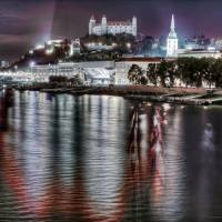 Bratislava by night Art Prints & Posters by Paolo Margari