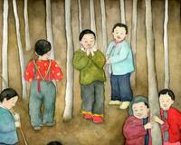 Boys in the Forest, China Series Illustration