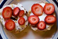 Strawberries on Bagels