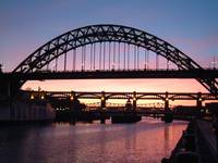 Radiance at Sunset on the Tyne
