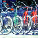 """Bikes in a Row by RD Riccoboni"" by RDRiccoboni"